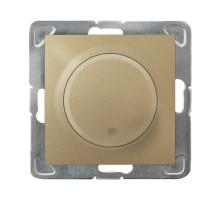 Светорегулятор поворотный LED, OSPEL IMPRESJA золото