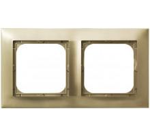 Рамка 2-кратная гориз., OSPEL IMPRESJA золото