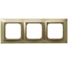Рамка 3-кратная гориз., OSPEL IMPRESJA золото