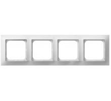Рамка 4-кратна гориз., OSPEL IMPRESJA белая