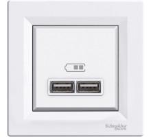 USB розетка, белый, EPH2700221 Schneider Electric Asfora