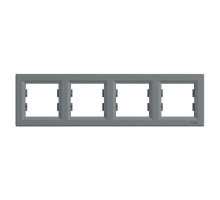 Рамка 4 поста, сталь, EPH5800462 Asfora Schneider