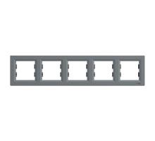 Рамка 5 постов, сталь, EPH5800562 Asfora Schneider