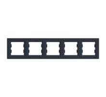 Рамка 5 постов, антрацит, EPH5800571 Asfora Schneider