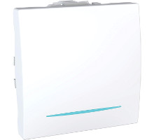 Выключатель 1-кл. Unica, с подсветкой, белый