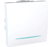 Выключатель 1кл. проходной Unica, с подсветкой, белый