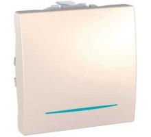 Выключатель 1кл. проходной Unica, с подсветкой, слоновая кость