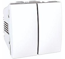 Выключатель 2кл. проходной Unica, белый