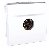 Розетка ТV-разъём, Unica, белая