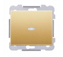 Выключатель 1кл. SIEMENS 16АХ, 250V с LED подсветкой, Золото Одиссей