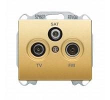 Розетка телевизионная концевая SIEMENS R-TV-SAT, Золото Одиссей