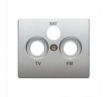 Накладка розетки телевизионной SIEMENS IRIS R TV-SAT Алюминий Меркурий