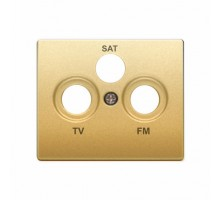 Накладка розетки телевизионной SIEMENS IRIS R TV-SAT Золото Одисей