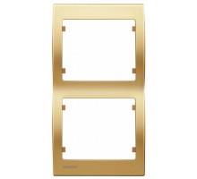 Рамка двойная вертикальная SIEMENS IRIS Золото Одисей