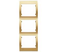 Рамка тройная вертикальная SIEMENS IRIS Золото Одисей