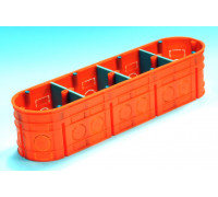 Коробка 4-х местная полипропилен 650 ° С самозатух д / бетон глубокая с шуруп MULTIWALL SIMET M4x60F