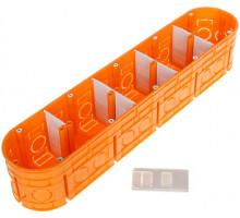 Коробка 5-х местная полипропилен 650 ° С самозатух д / бетон глубокая с шуруп MULTIWALL SIMET M5x60F