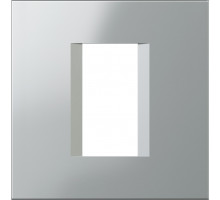 Рамка 1M TEM MODUL line, серебро