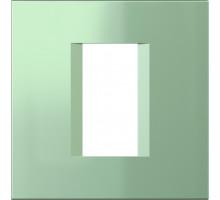 Рамка 1M TEM MODUL line, зеленый металик