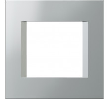Рамка 2M TEM MODUL line, серебро