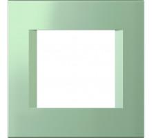 Рамка 2M TEM MODUL line, зеленый металик
