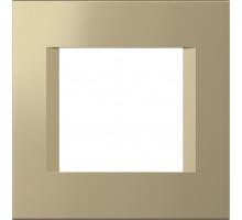 Рамка 2M TEM MODUL line, золото