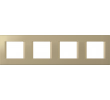 Рамка 4х2М ТЕМ MODUL, line, золото