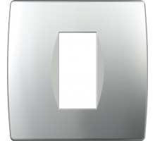 Рамка 1M TEM MODUL SOFT, серебро