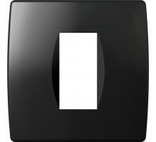 Рамка 1M TEM MODUL SOFT, черная