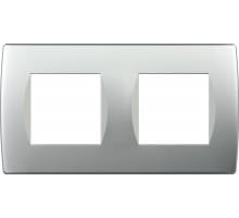 Рамка 2x2M TEM MODUL SOFT, серебро