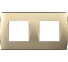 Рамка 2x2M TEM MODUL SOFT, золото