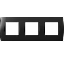 Рамка 3x2M TEM MODUL SOFT, черная