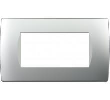 Рамка 4M TEM MODUL SOFT, серебро