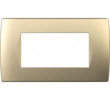 Рамка 4M TEM MODUL SOFT, золото