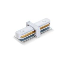 Соединитель для шинопроводов прямой VIDEX белый VL-TRF-CTI-W