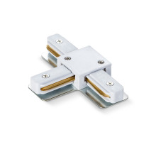 Соединитель для шинопроводов Т-подобный VIDEX белый VL-TRF-CTT-W