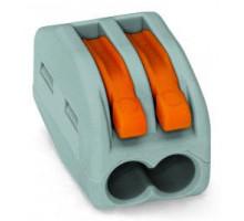 Клемма на 2-контакта, 0.08-4 мм2