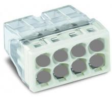 Клемма на 8-контактов, компактная, 0.5-2.5 мм2, с пастой