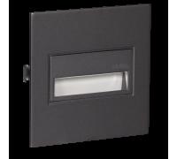 Светодиодный светильник SONA встраиваемый с диодами RGB.Графит