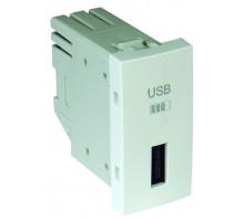 Одинарное зарядное устройство USB типа A 1-мод. белый 45383 SBR Efapel Quadro 45