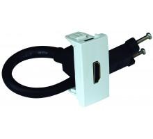 Розетка HDMI с разъемом 1-мод. белый 45435 SBR Efapel Quadro 45