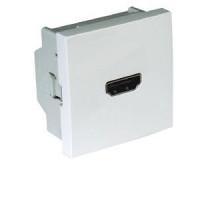 Розетка HDMI с безвинтовым разъемом 2-мод. Белый 45436 SBR Efapel Quadro 45