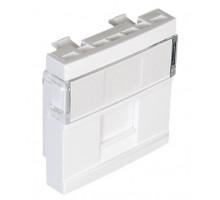 Панель для одинарной компютерной розетки 1хRJ45 CONNECT-2 мод. белый 45976 SBR Efapel Quadro 45