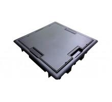 Люк напольный квадратный, серый - 16 модулей