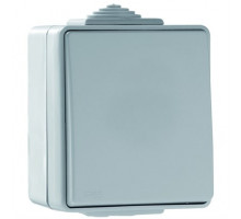 Выключатель одноклавишный наружный IP65 Efapel Waterproof48 16А/250В серый (48011 CCZ)