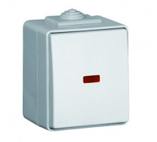 Выключатель наружный влагозащищенный IP65 с подсветкой Efapel Waterproof48 16А/250В серый (48012 CCZ)