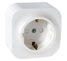 Накладная розетка с заземлением и защитными шторками, белый, 782420 Legrand Forix