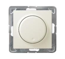 Светорегулятор поворотный LED, OSPEL IMPRESJA бежевый