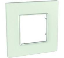 Рамка 1 место, стекло, Unica Quadro Schneider MGU2.702.17