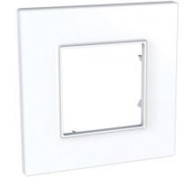 Рамка 1 место, белый, Unica Quadro Schneider MGU2.702.18